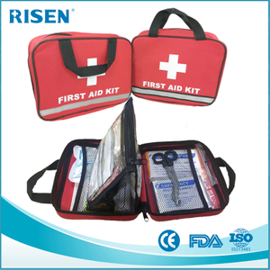FDA approved manufacture reflective travel sport first aid medical bag kit/first aid pouch