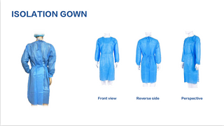 Wholesale PP Nonwoven Disposable Isolation Gown Lab Coat